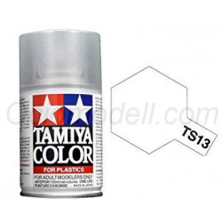 Spray glossy clear, Barniz brillante (85013). Bote 100 ml. Marca Tamiya. Ref: TS-13.