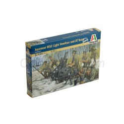 Japoneses M92 light howitzer y AT Team. Escala 1:72. Marca Italeri. Ref: 6164.