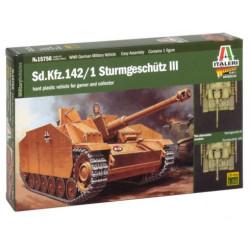 Tanque Sd.Kfz.142 / 1 Sturmgeschütz III. Escala 1:56. Marca Italeri. Ref: 15756.