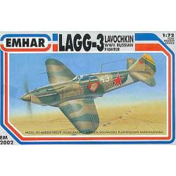 LAGG-3 Lavochkin, WWII Russian Fighter. Escala 1:72. Marca Emhar. Ref: EM2002.