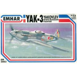 YAK-3 Yakovlev, WWII Russian Fighter. Escala 1:72. Marca Emhar. Ref: EM2003.