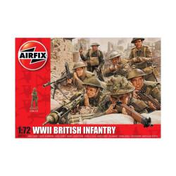 Set de Figuras de Infantería Británica WWII. Escala 1:72. Marca Airfix. Ref: A00763.