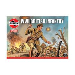 Set de Figuras de Infantería Británica WWI. Escala 1:76. Marca Airfix. Ref: A00727V.