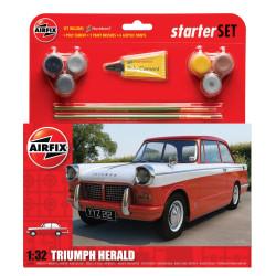 Coche clasíco Triumph Herald. Escala 1:32. Marca Airfix. Ref: A55201.