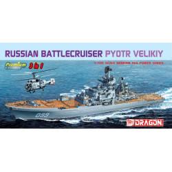 Crucero de batalla ruso Pyotr Velikiy, 3 en 1. Escala: 1:700. Marca: Dragon. Ref: 7074.
