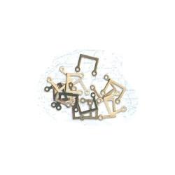 Candelero 2 orificios en forma de U, 7 x 7 mm ( 15 uds ). Marca Artesanía Latina. Ref: 8831.