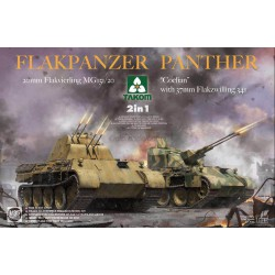 "Flakpanzer Panther ""Coelian"" with 37mm Flakzwilling 341 & 20mm, 2 in 1. Escala 1:35. Marca Takom. Ref: 2105."