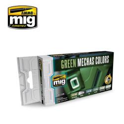 Set de colores verdes para mechas. Marca Ammo of Mig Jimenez. Ref: AMIG7149.