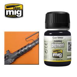 Pigmento Gun metal. Marca Ammo by Mig Jimenez. Referencia: AMIG3009.