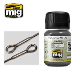 Pigmento metal pulido brillante. Marca Ammo by Mig Jimenez. Referencia: AMIG3021.