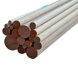 Varilla de madera Haya 10 x 1000 mm. 1 unidad. Marca Dismoer. Ref: 35637.