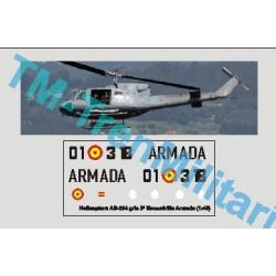Calcas del helicóptero AB-204, gris 3ª escuadrilla armada. Escala 1:48. Marca Trenmilitaria. Ref: 000_4805.