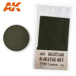 Lona de camuflaje mimetic net type 1 green. Escala 1:35. Marca AK Interactive. Ref: AK8059.