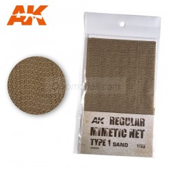 Lona de camuflaje mimetic net type 1 sand. Escala 1:35. Marca AK Interactive. Ref: AK8060.