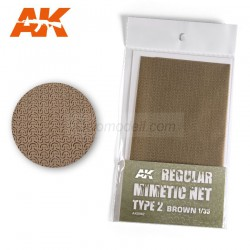 Lona de camuflaje mimetic net type 2 brown. Escala 1:35. Marca AK Interactive. Ref: AK8062.