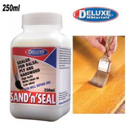 DELUXE SAND & SEAL - Barniz tapaporos para madera. Contiene 250 ml. Marca Deluxe. Ref: BD49.