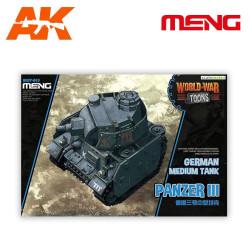 GERMAN MEDIUM TANK PANZER III. Serie world war toons. Marca Meng. Ref: WWT-005.