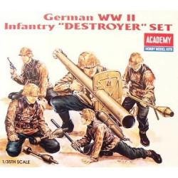 """Figuras de Infantería Alemana """"destroyer"""" WWII. Escala 1:35. Marca Academy. Ref: 1370."""