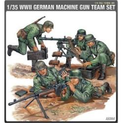 Figuras alemanas , machine gun team, WWII. Escala 1:35. Marca Academy. Ref: 1379.