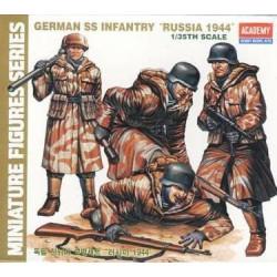 """Figuras de Infantería de las SS alemanas """"rusia 1944"""". Escala 1:35. Marca Academy. Ref: 1378."""