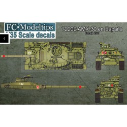 Calcas  AMX-30 in Spain. Escala 1:72. Marca Fcmodeltips. Ref: 72202.