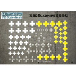 Calcas Balkenkreus 1939-1942. Escala 1:35. Marca Fcmodeltips. Ref: 35212.
