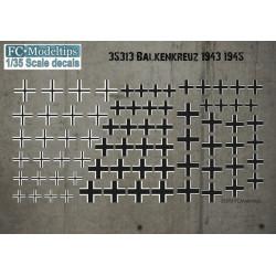 Calcas Balkenkreus 1943-1945. Escala 1:35. Marca Fcmodeltips. Ref: 35213.
