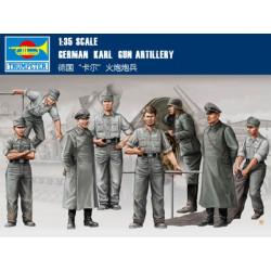 Figuras de la Artilleria Alemana. Escala 1:35. Marca Trumpeter. Ref: 00409.