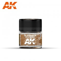 RC Air, Olive Braun-Olive Brown RAL 8008. Cantidad 10 ml. Marca AK Interactive. Ref: RC218.