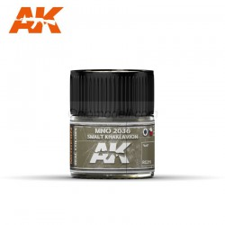 RC Air, MNO 2036 Smalt Khaki Avion. Cantidad 10 ml. Marca AK Interactive. Ref: RC219.