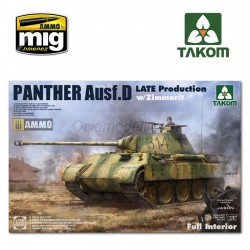 Sd.Kfz.171 Panther Ausf.D Late production w/ Zimmerit/ full interior kit. Escala 1:35. Marca Takom. Ref: 2104.