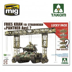 FRIES KRAN 16t STRABOKRAN 43/44 + PANTHER FULL INTERIOR. Escala 1:35. Marca Takom. Ref: 2108.