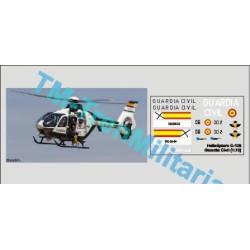 Calcas del helicóptero C-135, Guardia civil. Escala 1:72. Marca Trenmilitaria. Ref: 000_4738