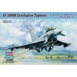 EF-2000B Eurofighter Typhoon. Escala 1:72. Marca Hobby boss. Ref: 80265.