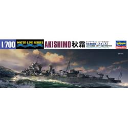 Japanese Navy Destroyer Akishimo. Escala: 1:700. Marca: Hasegawa. Ref: 49467.