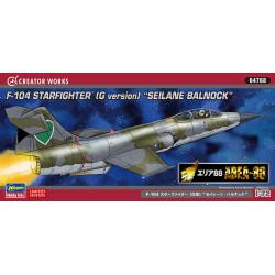 "[AREA-88] F-104 STARFIGHTER® (G Version) ""SEILANE BALNOCK"". Escala 1:72. Marca Hasegawa. Ref: 64768."