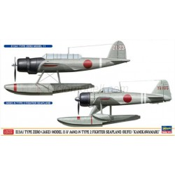 E13A1 Type Zero (Jake) Model 11 y A6M2N Type 2 (Rufe). Escala 1:72. Marca Hasegawa. Ref: 02289.
