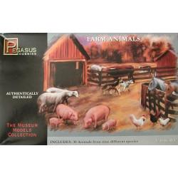 Figuras de animales de granja. Escala 1:48. Marca Pegasus. Ref: 7006.
