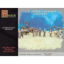 Figuras misioneros e indios de California. Escala 1:72. Marca Pegasus. Ref: 7051.