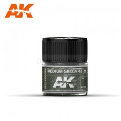 RC Air, Medium Green 42. Cantidad 10 ml. Marca AK Interactive. Ref: RC260.
