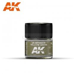 RC Air, US Interior Yellow Green. Cantidad 10 ml. Marca AK Interactive. Ref: RC262.