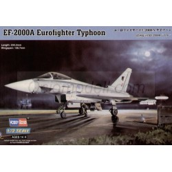 Eurofighter Typhoon Ef-2000A. Calcas españolas. Escala 1:72. Marca Hobby boss. Ref: 80264E.