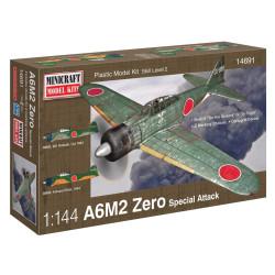 A6M2 Zero. Escala 1:144. Marca Minicraft. Ref: 14691.