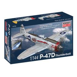 P-47D thunderbolt. Escala 1:144. Marca Minicraft. Ref: 14722.