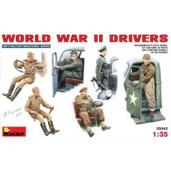 Conductores de la WWII. Escala 1:35. Marca Miniart. Ref: 35042.