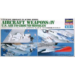 Set AIRCRAFT WEAPONS IV U.S. MISSILES. Escala 1:72. Marca Hasegawa. Ref: X72-4.