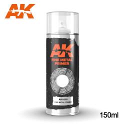 Imprimación gris para metal en spray. Cantidad 150 ml. Marca AK Interactive. Ref: AK1016.