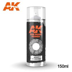 Imprimación gris para resina en spray. Cantidad 150 ml. Marca AK Interactive. Ref: AK1017.