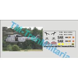 "Calcas del helicóptero Eurocopter AS332 ""803-11"", superpuma. Gris SAR. Escala 1:72. Marca Trenmilitaria. Ref: 000_4875."