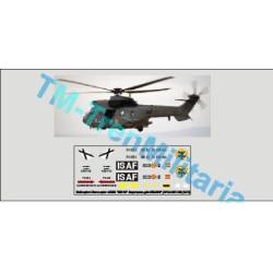 """Calcas del helicóptero Eurocopter AS332 """"803-12"""", superpuma. Gris HELISAF. Escala 1:72. Marca Trenmilitaria. Ref: 000_4876."""
